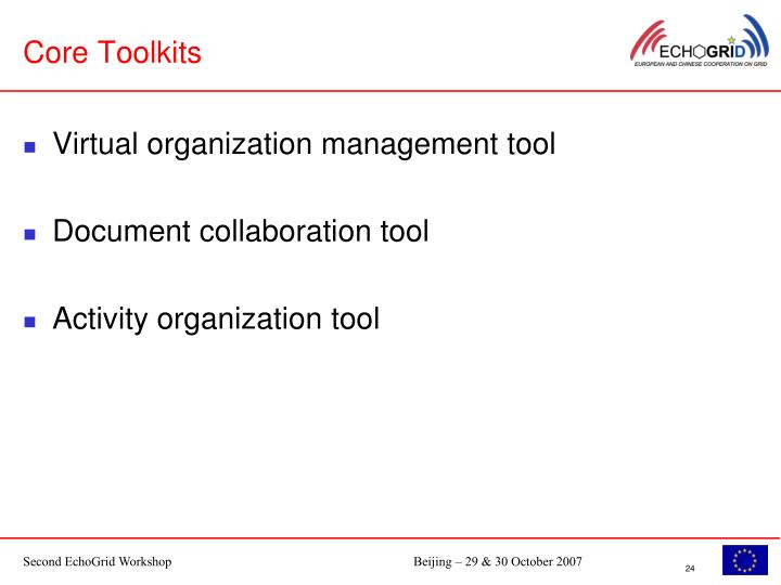 Core Toolkits