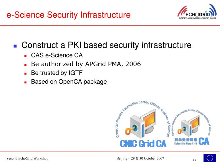 e-Science Security Infrastructure