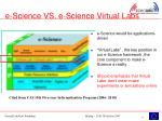e science vs e science virtual labs