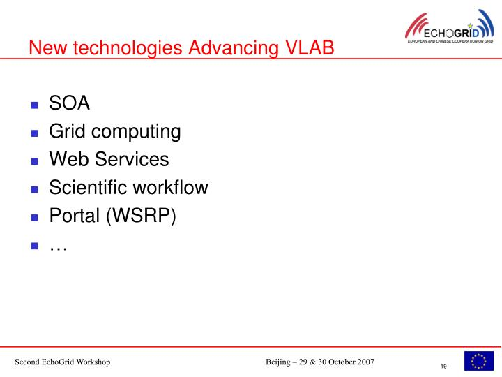 New technologies Advancing VLAB