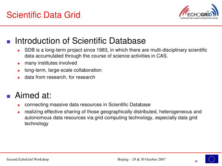 Scientific Data Grid