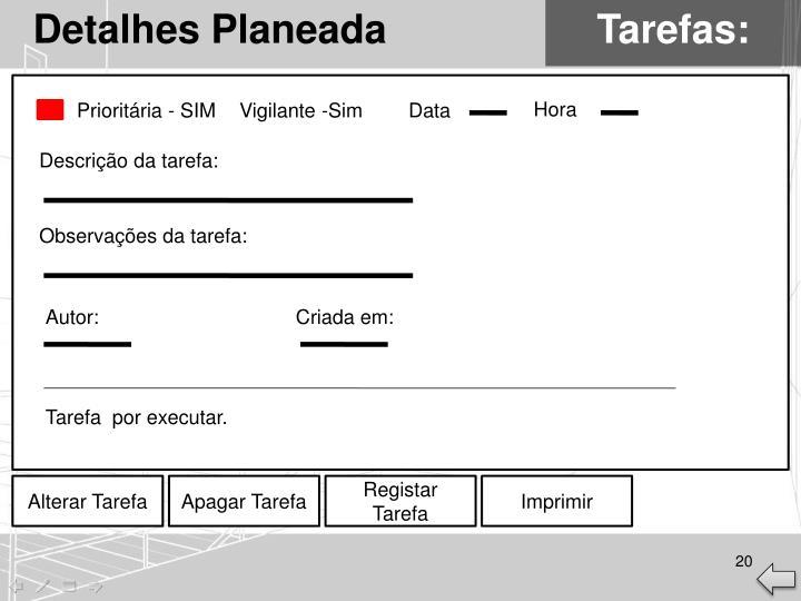 Detalhes Planeada