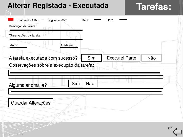Alterar Registada - Executada