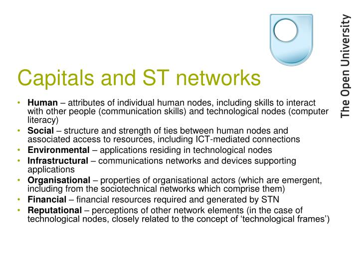 Capitals and ST networks