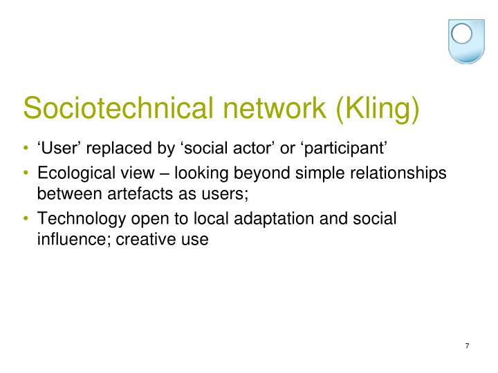 Sociotechnical network (Kling)