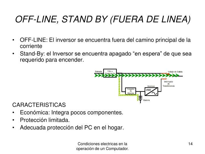 OFF-LINE, STAND BY (FUERA DE LINEA)