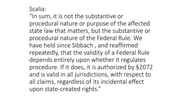 Scalia: