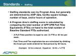 standards staffing