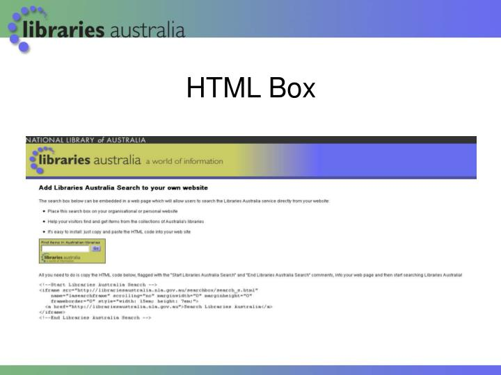 HTML Box