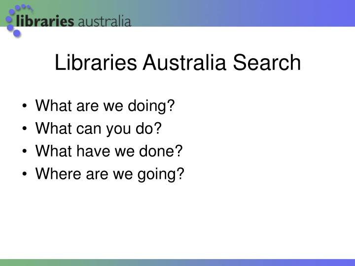 Libraries Australia Search