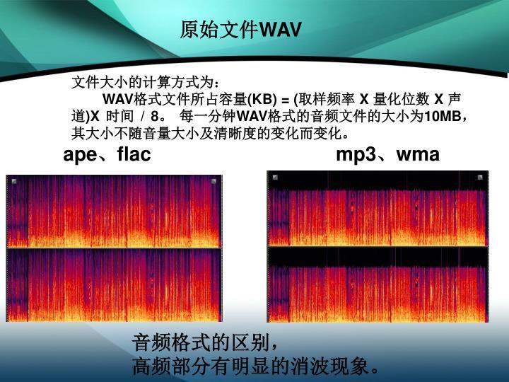 原始文件WAV