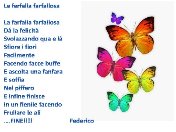 La farfalla farfallosa