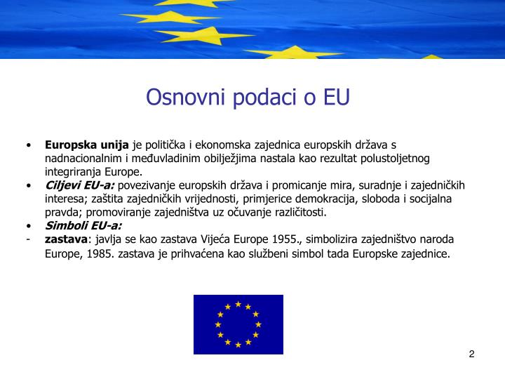 Osnovni podaci o EU