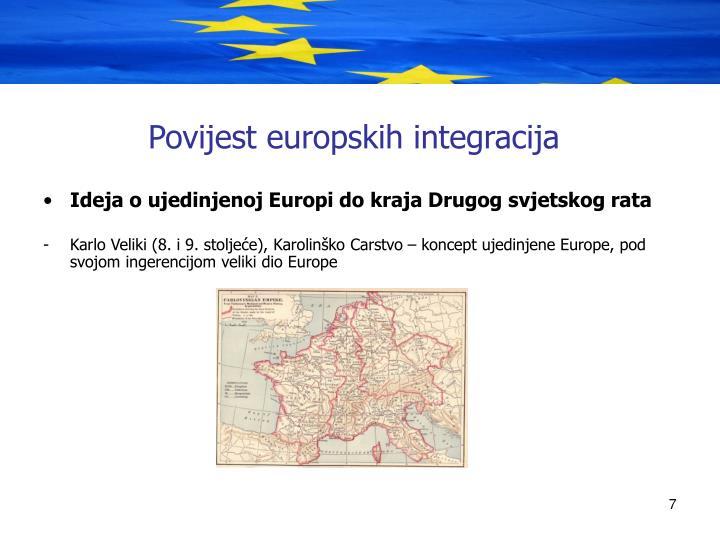 Povijest europskih integracija
