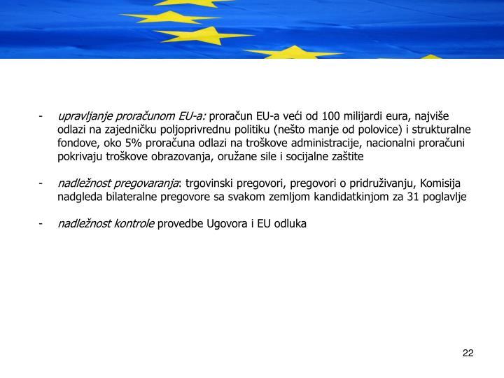 upravljanje proraunom EU-a: