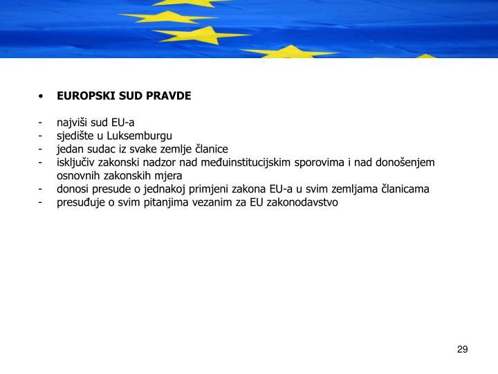EUROPSKI SUD PRAVDE