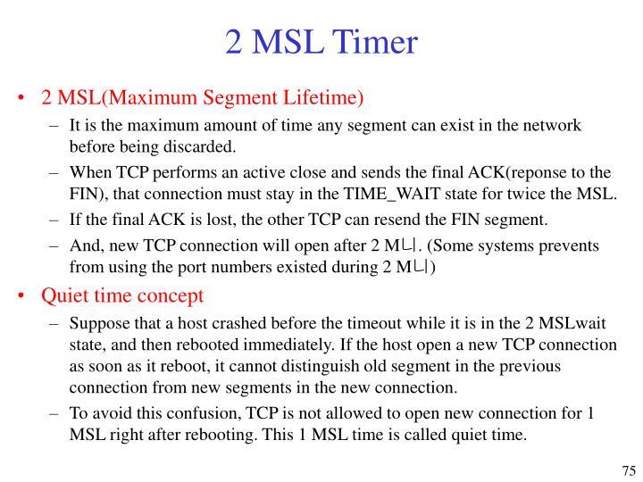 2 MSL Timer