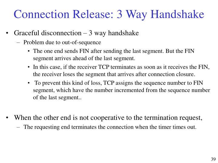 Connection Release: 3 Way Handshake