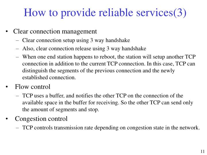 How to provide reliable services(3)