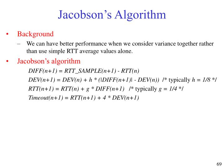 Jacobson's Algorithm