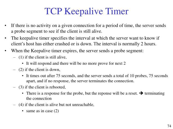 TCP Keepalive Timer