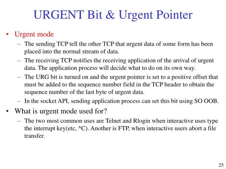 URGENT Bit & Urgent Pointer
