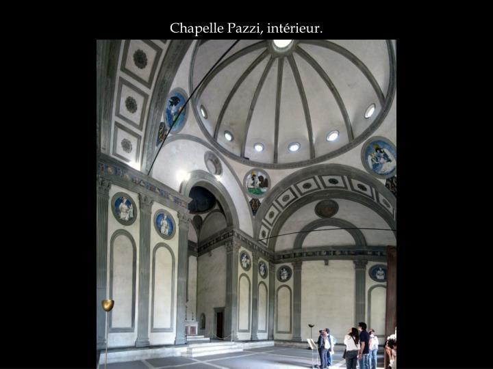 Chapelle Pazzi, intérieur.
