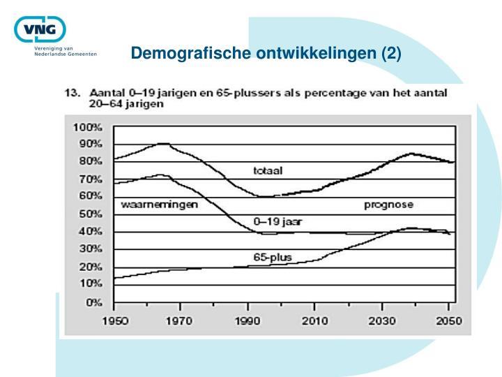 Demografische ontwikkelingen (2)