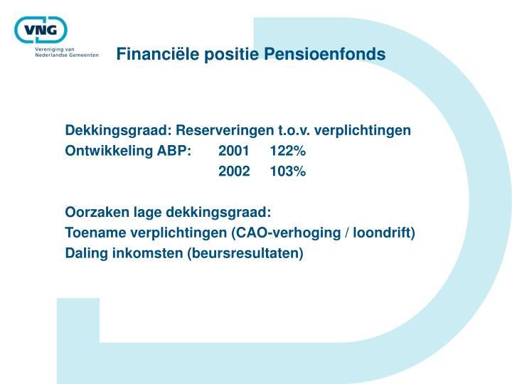 Financiële positie Pensioenfonds