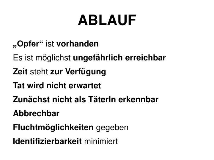 ABLAUF