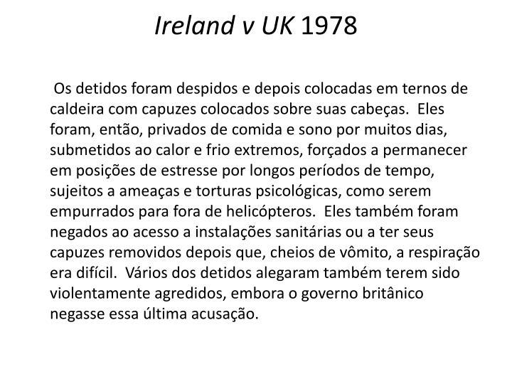 Ireland v UK