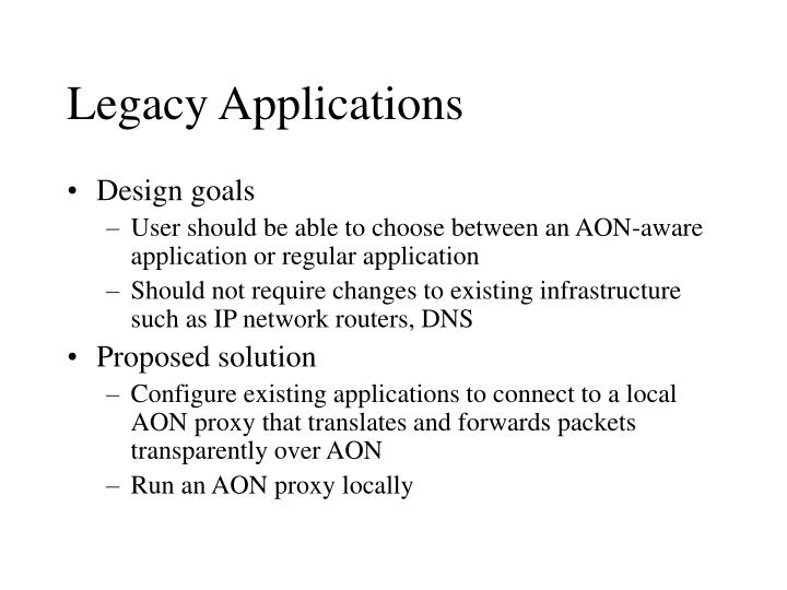 Legacy Applications