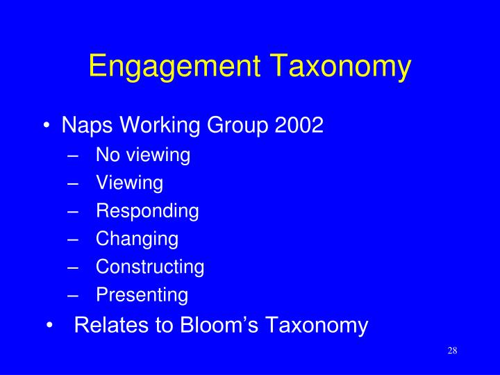 Engagement Taxonomy