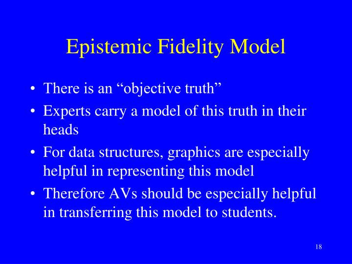Epistemic Fidelity Model