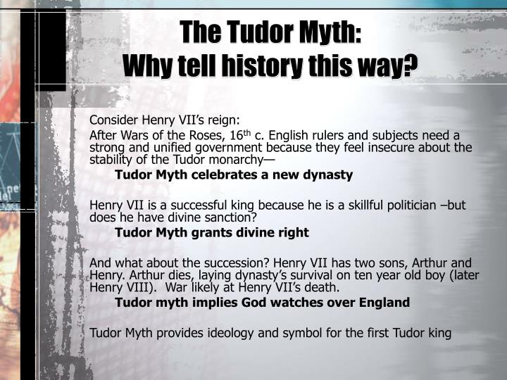 The Tudor Myth: