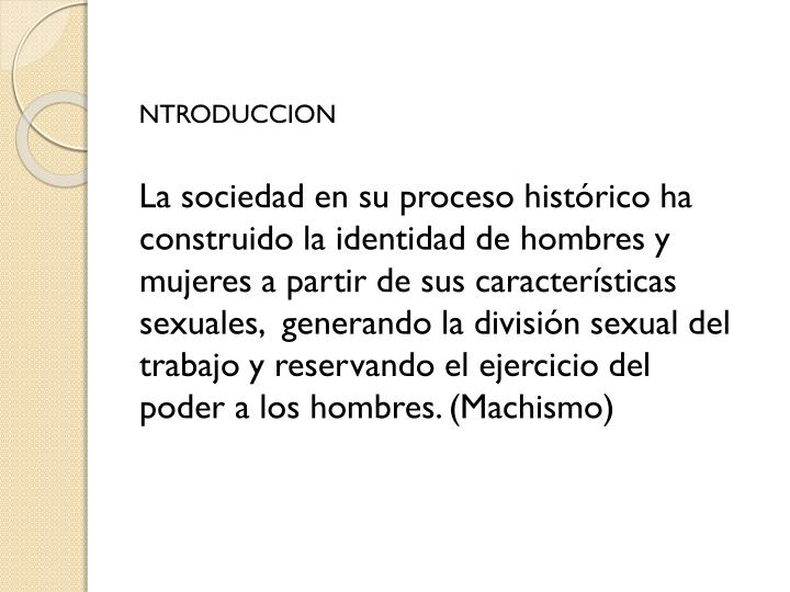 NTRODUCCION
