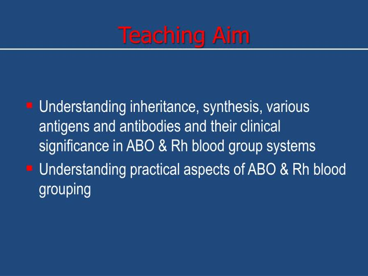 Teaching Aim