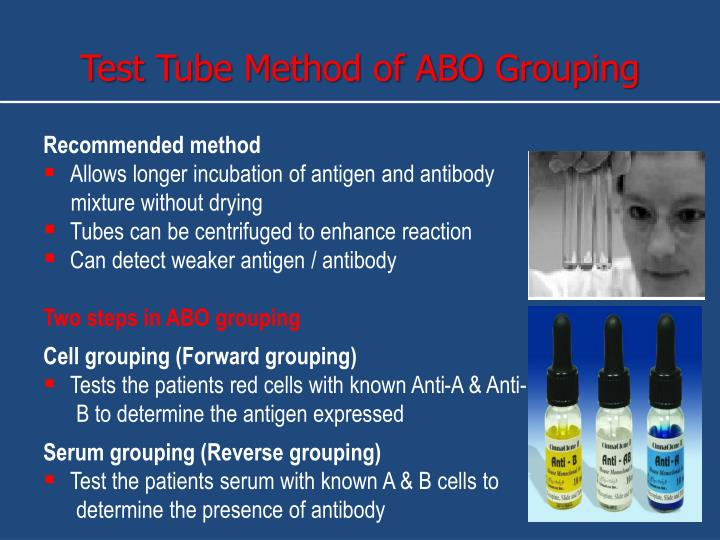 Test Tube Method of ABO Grouping