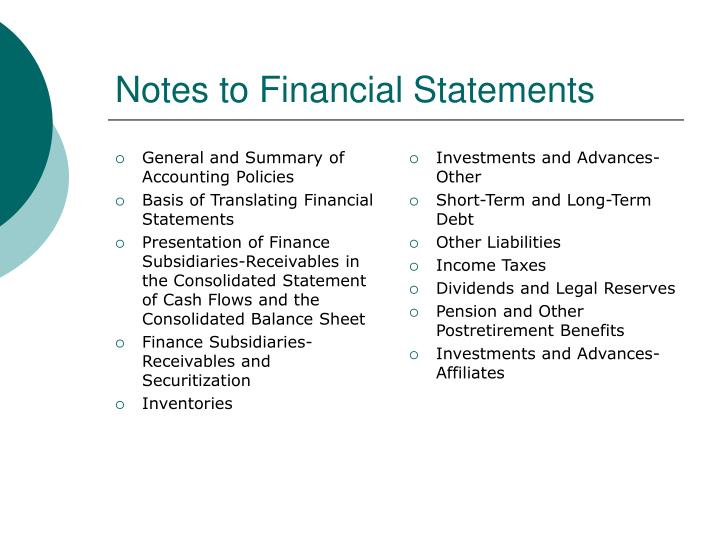 General and Summary of Accounting Policies