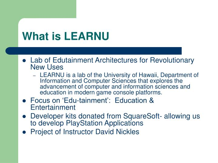 What is LEARNU