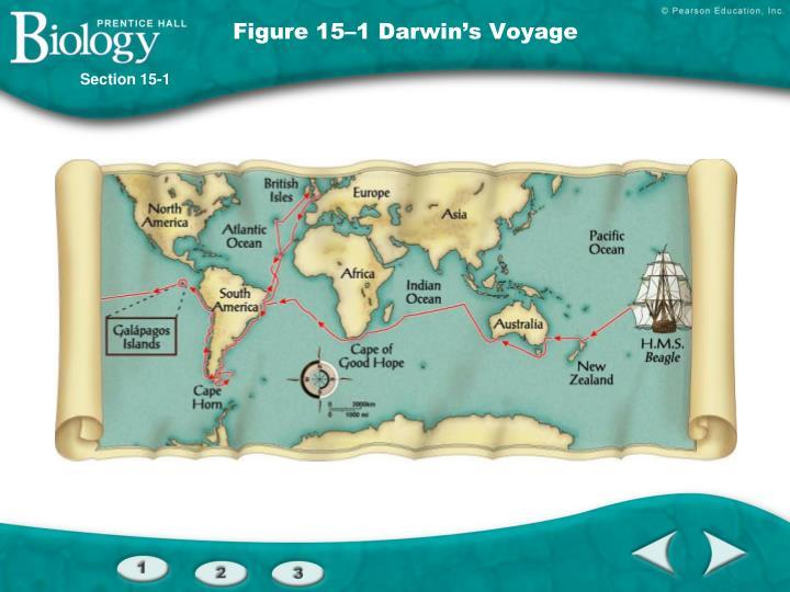 Figure 15–1Darwin's Voyage