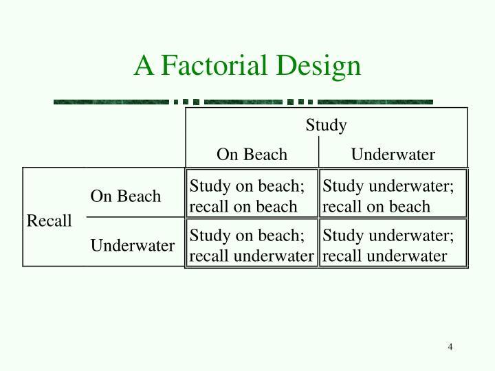 A Factorial Design