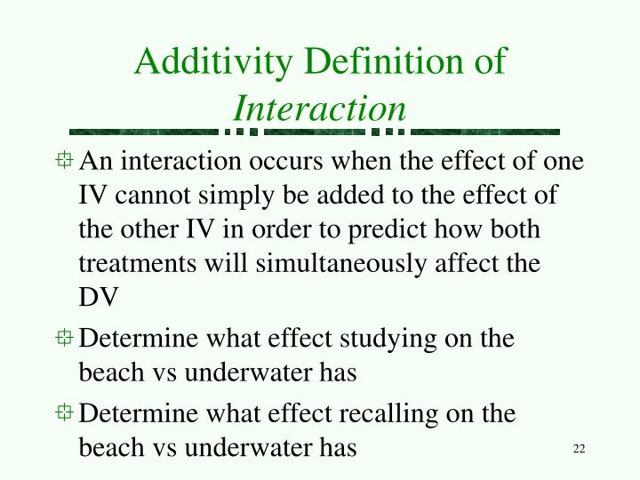 Additivity Definition of
