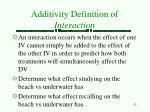 additivity definition of interaction