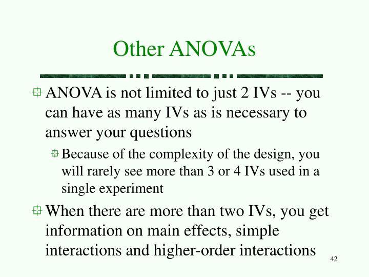 Other ANOVAs