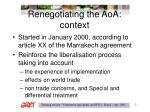 renegotiating the aoa context