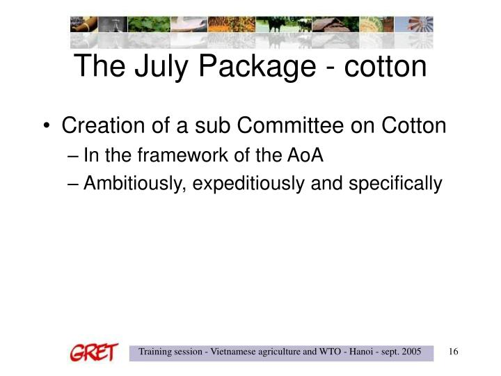 The July Package - cotton