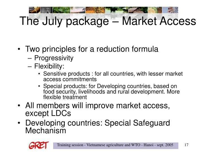 The July package – Market Access