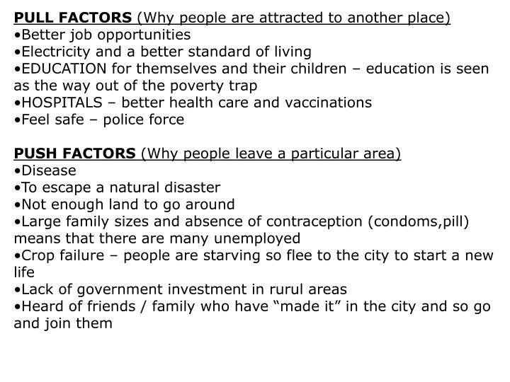 PULL FACTORS