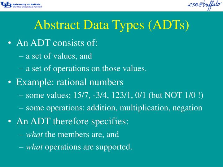 Abstract data types adts